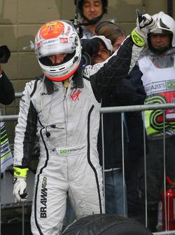 Pole winner Rubens Barrichello, Brawn GP