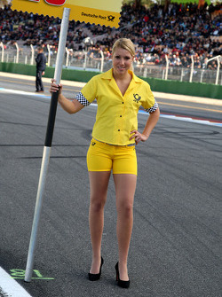 Grid girl of Tomas Kostka, Kolles TME, Audi A4 DTM
