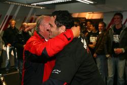 Hans-Jurgen Abt, Teamchef Abt-Audi, with Siegfried Krause, Commercial Manager Audi Sport