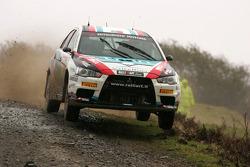 Armindo Araujo and Miguel Ramalho, Ralliart Italy Mitsubishi Lancer Evo IX