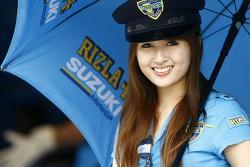 A lovely Rizla Suzuki MotoGP girl