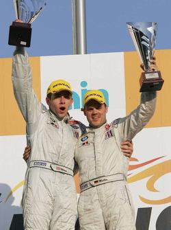 LMGT2 podium: class winners Tom Milner and Dirk Muller