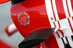 Ferrari sticker on the air box