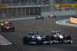 Kazuki Nakajima, Williams F1 Team and Vitantonio Liuzzi, Force India F1 Team