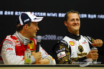 Press conference: Race of Champions winner Mattias Ekström with second place Michael Schumacher