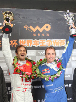 Podium: Beijing Challenge winner Emanuele Pirro with second place Giniel de Villiers