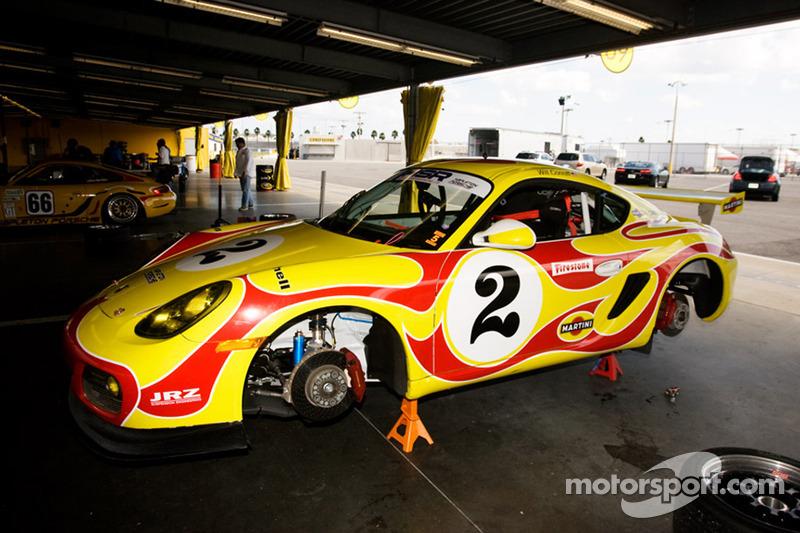 Porsche Cayman Martini Car At Hsr Daytona