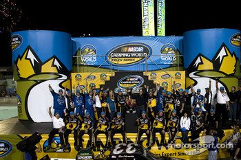 Championship victory lane: 2009 champion Ron Hornaday celebrates with his team