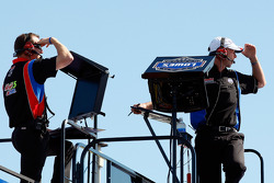 NASCAR-CUP: Alan Gustafson, crew chief for Mark Martin, Hendrick Motorsports Chevrolet, and Chad Knaus, crew chief for Jimmie Johnson, Hendrick Motorsports Chevrolet