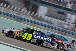 Jimmie Johnson, Hendrick Motorsports Chevrolet, Marcos Ambrose, JTG Daugherty Racing Toyota