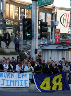 Top 12 victory lap parade: fans of Jimmie Johnson