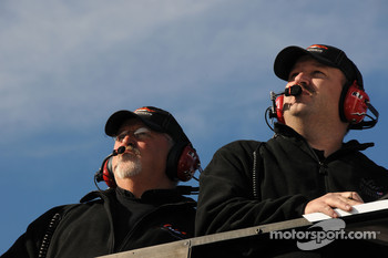 Tony Eury Jr. watches testing action