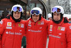Giancarlo Fisichella, Felipe Massa and Fernando Alonso