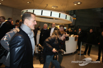 Michael Schumacher heads to the presentation