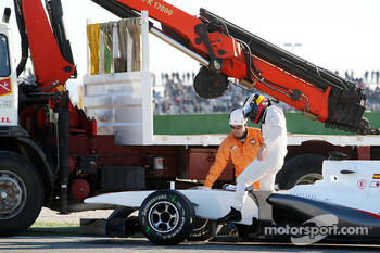 Pedro de la Rosa, BMW Sauber F1 Team, C29, stops on circuit