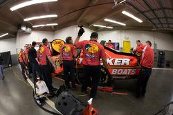 Earnhardt Ganassi Racing Chevrolet team members at work