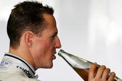 Michael Schumacher, Mercedes GP has a drink