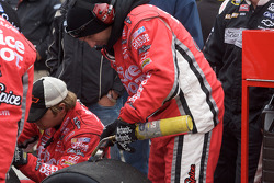 Stewart-Haas Racing Chevrolet team members after a pit stop
