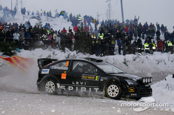 Marcus Gronholm and Timo Rautianen, Ford Focus RS WRC 08, Stobart VK M-Sport Ford Rally Team