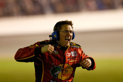 Earnhardt Ganassi Racing Chevrolet team member celebrates
