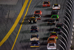 Kasey Kahne, Richard Petty Motorsports Ford leads a group of cars