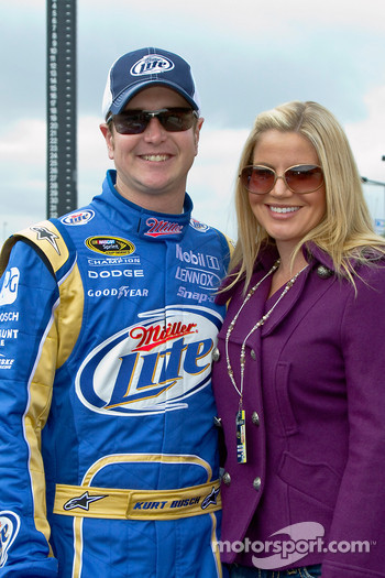 Kurt Busch, Penske Racing Dodge with wife Eva