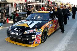 Car of Jeff Burton, Richard Childress Racing Chevrolet pushed in the garage