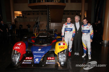 Olivier Panis, Hugues de Chaunac and Nicolas Lapierre with the ORECA-Matmut Peugeot 908 HDi FAP
