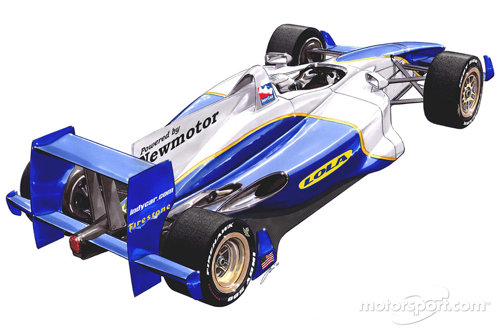 Rendering of the Lola 2012 B12/00 IndyCars