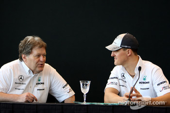 Norbert Haug, Mercedes, Motorsport chief, Michael Schumacher, Mercedes GP Petronas