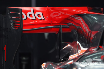 The rear wing of McLaren Mercedes