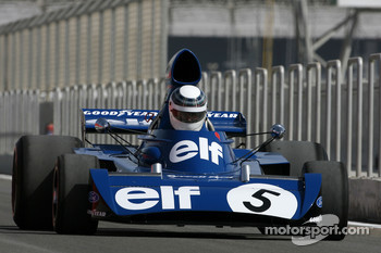 Sir Jackie Stewart, 1969, 1971, 1973 F1 World Champion drives the 1973 Tyrrell-Ford 006