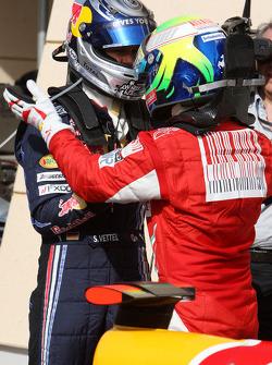 Pole winner Sebastian Vettel, Red Bull Racing, Felipe Massa, Scuderia Ferrari