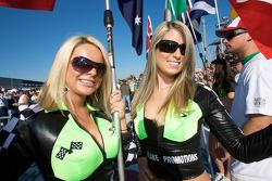 Charming flag girls