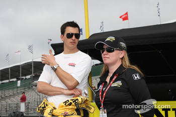 Graham Rahal, Sarah Fisher Racing and Sarah Fisher