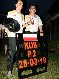 Robert Kubica, Renault F1 Team and Eric Boullier, Team Principal, Renault F1 Team