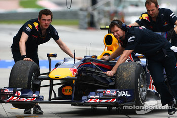 The car of Mark Webber, Red Bull Racing