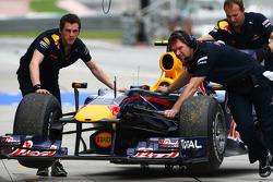 The car of Mark Webber, Red Bull Racing