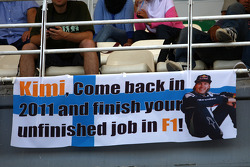 A banner for Kimi Raikkonen