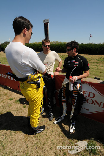 Graham Rahal, Will Power, and Alex Tagliani