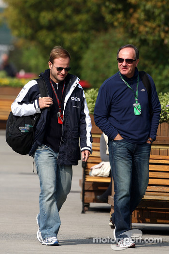 Rubens Barrichello, Williams F1 Team and his father Rubao Barrichello