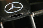 Mercedes logo and nose cone
