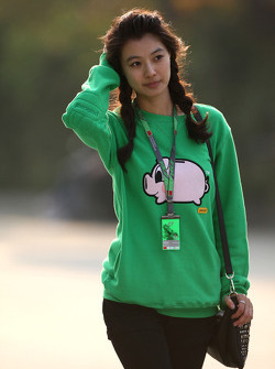 A girl in te paddock
