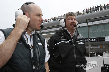 Jock Clear, Mercedes GP, Senior Race Engineer and Ross Brawn Team Principal, Mercedes GP