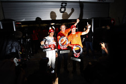 Race winner Jenson Button, McLaren Mercedes, celebrates with Lewis Hamilton, McLaren Mercedes, Martin Whitmarsh, McLaren, Chief Executive Officer and McLaren Mercedes team