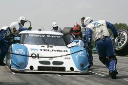 Pit stop for #01 Chip Ganassi Racing with Felix Sabates BMW Riley: Scott Pruett, Memo Rojas