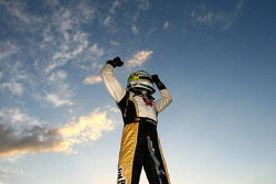 James Courtney celebrates after taking out race 9 of the 2010 V8 Supercar Championship