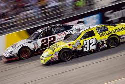 Brad Keselowski races Reed Sorenson