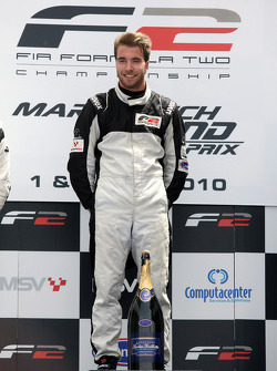 Philipp Eng celebrates his win on the podium