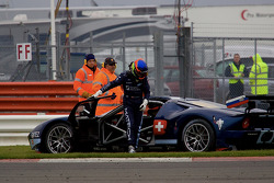 #5 Matech Competition Ford GT: Thomas Mutsch, Romain Grosjean gets hit and spins